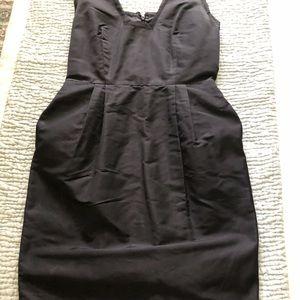 Blumarine black silk dress with pockets